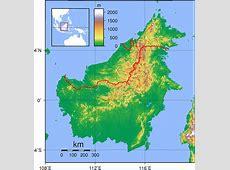 Borneo Topography 1 • Mapsofnet