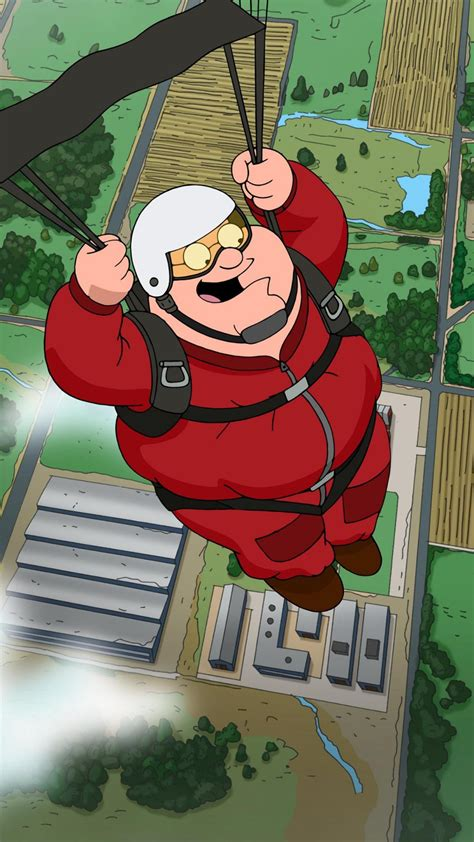 family guy peter griffin skydiving wallpaper