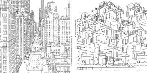 city coloring pages    print