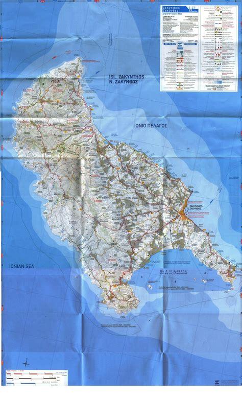stadtplan von zakynthos detaillierte gedruckte karten