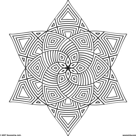 coloring pages geometric design colouring pages