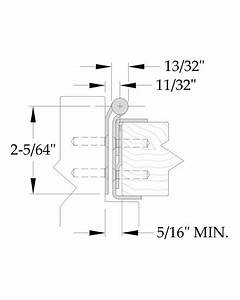 A515rb Full Concealed Stainless Steel Pin  U0026 Barrel Hinge