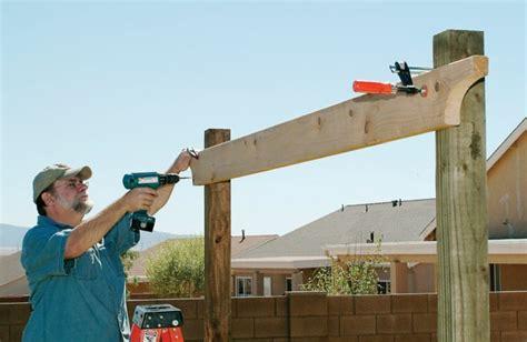 comment construire une pergola en bois pour d 233 corer sa terrasse