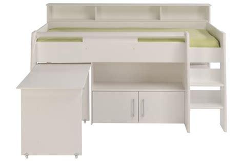 ot pour cuisine lit mezzanine avec bureau et armoire 2 portes sheen