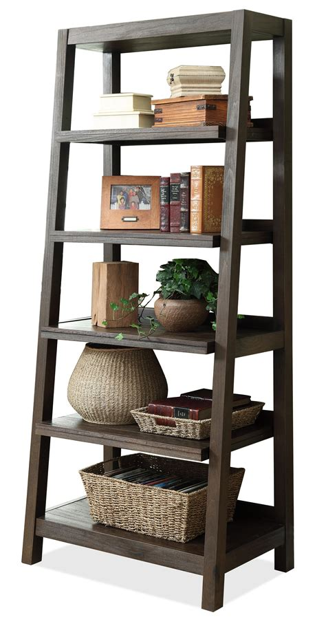 Furniture Bookcases by Riverside Furniture Promenade Canted Bookcase With 5
