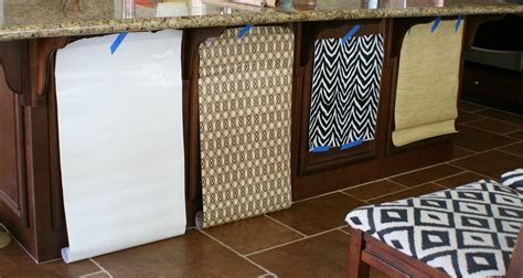 paper to line cabinets using contact paper on our kitchen island amy krist