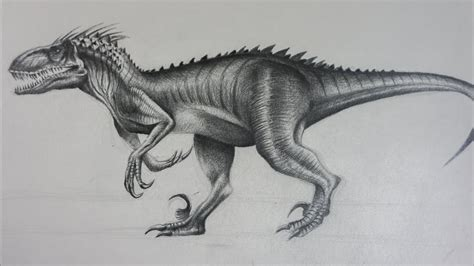 indoraptor de jurassic world  dibujo  lapiz youtube