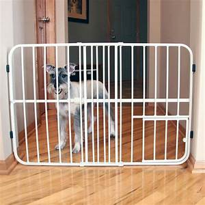 carlson tuffy expandable dog gate with small pet door with With chew proof dog gate