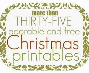FREE Christmas Printables Christmas