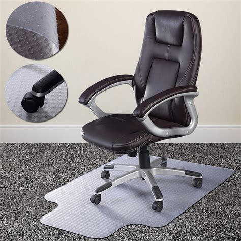 office chair mat for carpet pvc home office chair floor mat studded back with lip for