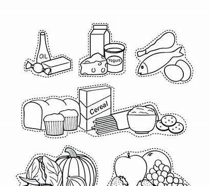 Coloring Pages Groups Grains Plate Clipart Cereal