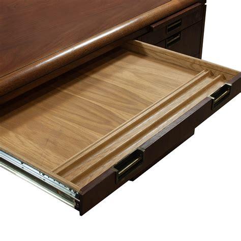 jofco used veneer double pedestal desk with credenza
