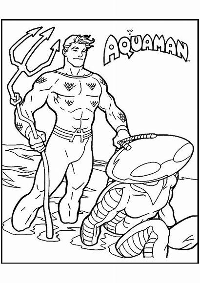 Aquaman Coloring Coloriage Enfants Printable Imprimer Movie