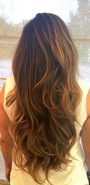 brunette  caramel highlights neil george