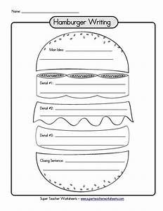Hamburger Graphic Organizer Writing Paragraph