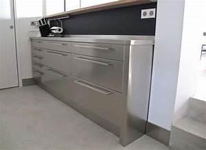 plan de travail inox cuisine matriel inox pour votre With meuble sur mesure pas cher capital m6