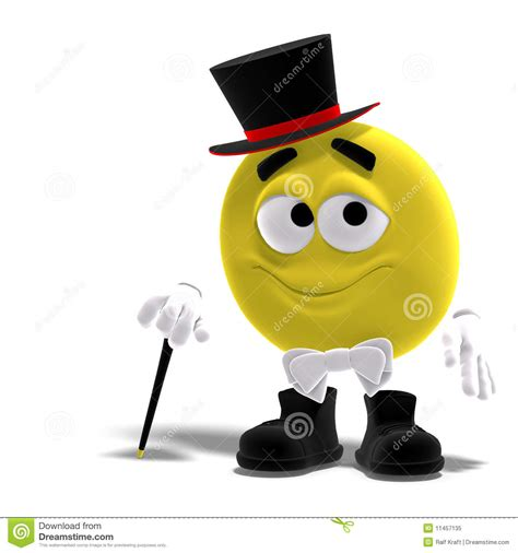 Elegant Cool And Funny Yellow Emoticon With Bow Royalty