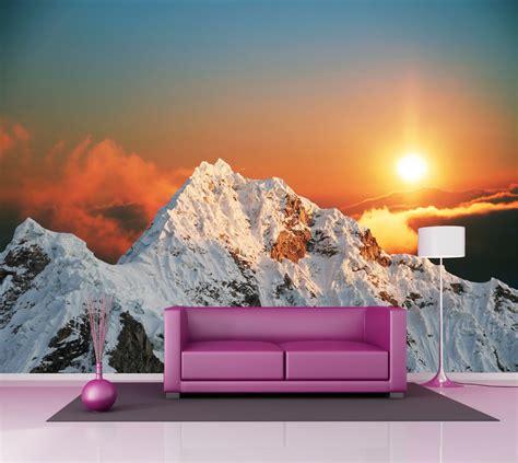 deco chambre montagne poster mural grande taille