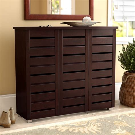 Images Of Shoe Racks Cabinets by Darby Home Co 20 Pair Slatted Shoe Storage Cabinet