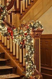 1000 images about Christmas banisters decorations on