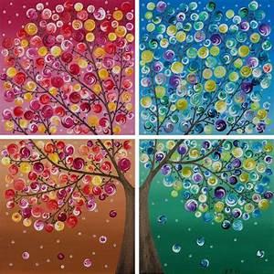 Blumen Bewässern Mit Wollfaden : original four seasons painting large square by qiqigallery ~ Lizthompson.info Haus und Dekorationen