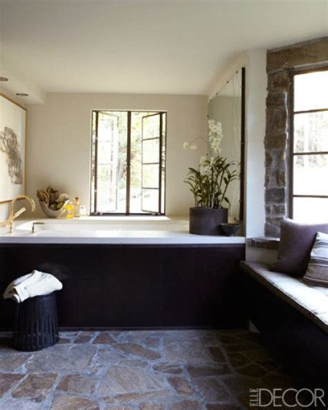 elle decor bathrooms powder rooms pinterest stone