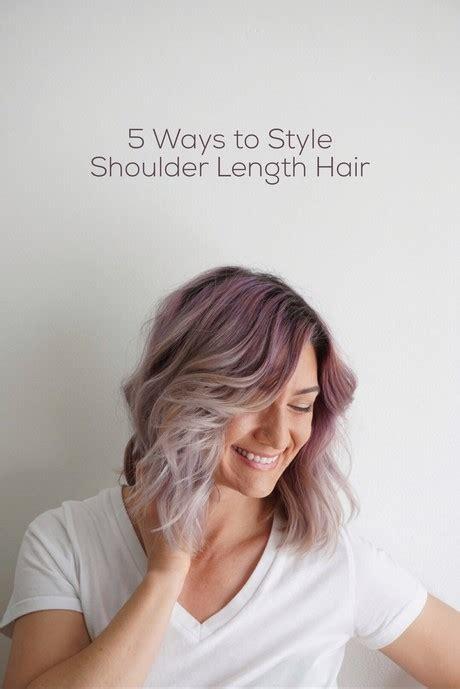 ways to style your hair ways to style medium length hair 6773