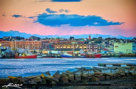 Maine Harbor in Portland along the Marina Docks