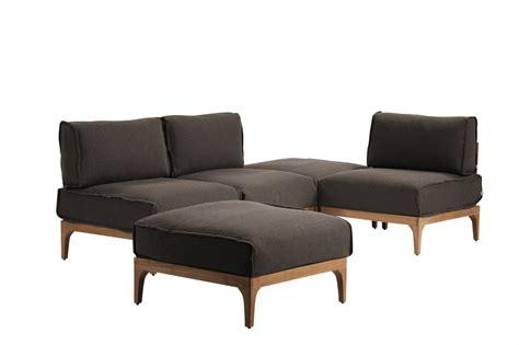 canapé teck jardin sawa le salon de jardin design et modulable
