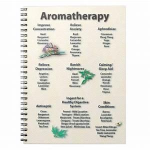Aromatherapy Quick Reference Chart Notebook Zazzle