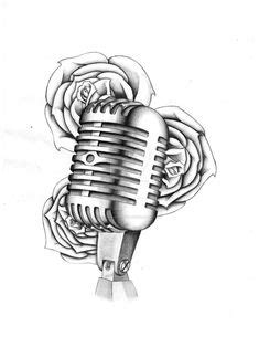 microphone drawing tattoss pinterest studios
