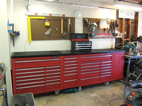 Garage Cabinets Garage Journal by Workbench To House 44 Quot Hf Tool Cabinet Page 2 The