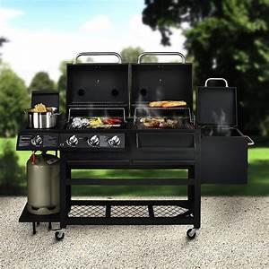 Barbecue Gaz Et Charbon : barbecue haut de gamme 4 fonctions barbecue charbon ~ Dailycaller-alerts.com Idées de Décoration