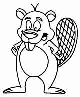 Beavers Coloring Angry Beaver Cartoon Getdrawings sketch template