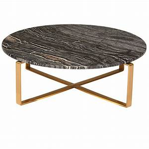 rosa modern marble coffee table black brushed gold With brushed gold coffee table