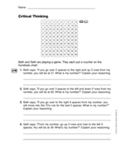 math critical thinking worksheets puzzles thinking word