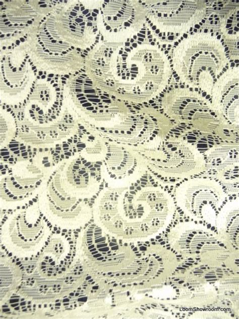 Lace Drapery Fabric by Lace Sheer Embroidered Scallop Lace Ivory Curtain Fabric