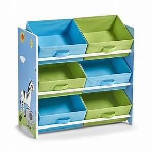 Bac De Rangement Jouet : etagere enfant rangement jouets 6 casiers bleu vert zeller 13499 ~ Teatrodelosmanantiales.com Idées de Décoration