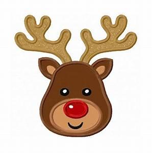 Reindeer Head Applique Machine Embroidery Design NO:0096