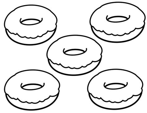 donut coloring pages  coloring pages  kids
