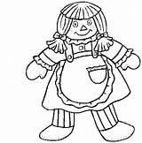 Doll Dolls Coloring Pages Rag Printable Briana Getcoloringpages Coloring2print Playroom sketch template