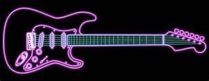 Neon Guitar stock illustration Image of board blues