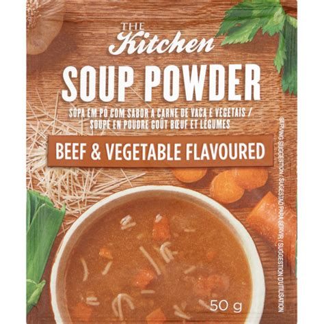 kitchen soup powder beef vegatable flavoured