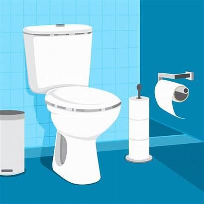 Toilet Bowl Toilette Paper Vettore Illustrazione Wc