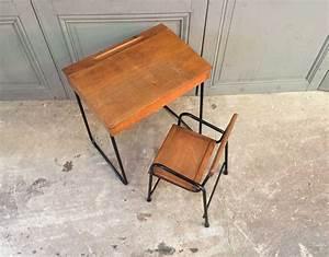 Chaise Enfant Vintage : ensemble bureau et chaise enfant vintage ~ Teatrodelosmanantiales.com Idées de Décoration