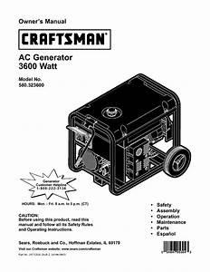 Craftsman 580 323600 Owner S Manual