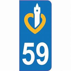 Etiquette Plaque Immatriculation : sticker plaque immatriculation nord 59 etiquette autocollant ~ Gottalentnigeria.com Avis de Voitures