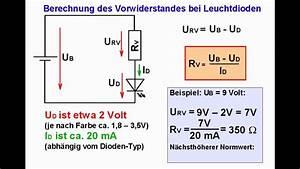 Led Vorwiederstand Berechnen : elektronik tutorial 07 leuchtdioden leds youtube ~ Themetempest.com Abrechnung