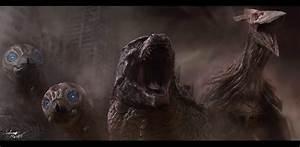 Godzilla, Mothras, and Rodan by InkVeil-Matter on DeviantArt