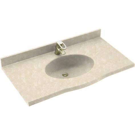 Swanstone Kitchen Sinks Menards by Swan Europa 22 Quot X 43 Quot Solid Surface Vanity Top At Menards 174